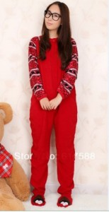 Fleece Cotton Adult Footed Pajamas