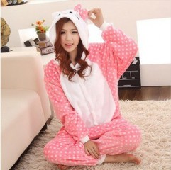 DD2 winter pajamas lovers conjoined cartoon animals for men and women