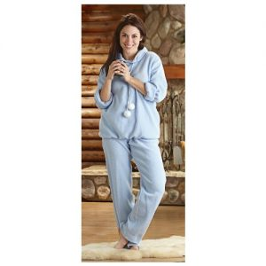 Hooded Pajama Set with Sleep Mask