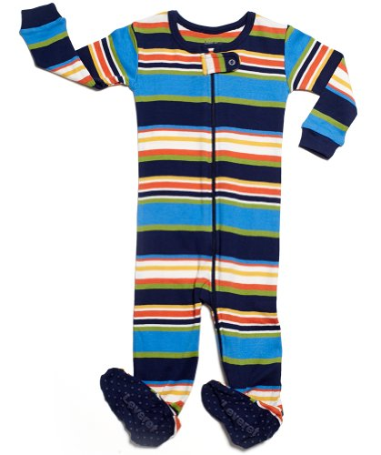 Leveret Footed Multi Boy Pajama Sleeper