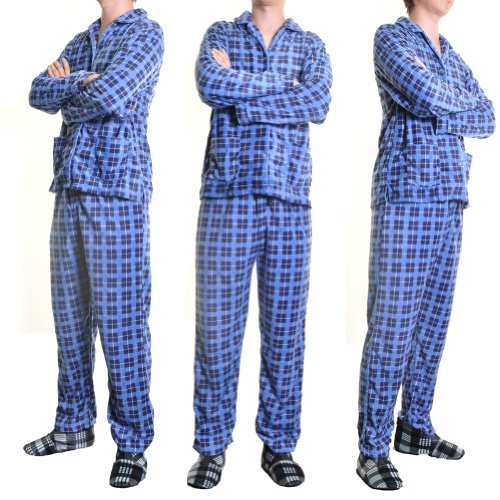 mens Fleece Pajama Set