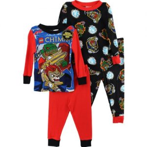 boys 4 Piece Pajama Set
