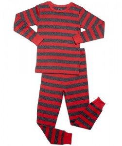 Leveret Kids Red & Grey Pajama
