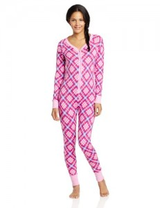 Women's Plaid Union Suit
