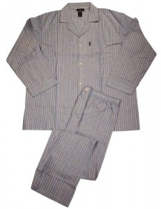 Mens Long Sleeve Woven Pajamas