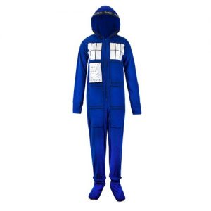 Doctor Who Tardis Hooded Onesie Pajama with Hood