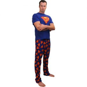 Men's short-sleeve long leg pajamas
