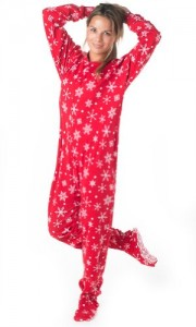 Womens Christmas footed Pajamas