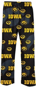 Iowa Hawkeyes Men's Black NCAA Keynote Pajama Pants