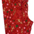 Soft Sensations Womens Red Flannel Reindeer Sleep Pants pajamas