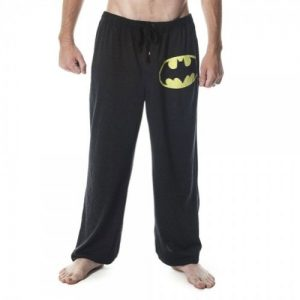Batman Mens Gray Heathered Sleep Pant