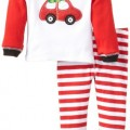 Mud Pie Baby-Boys Newborn Holiday Car Lounge Set