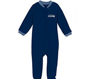 NFL Unisex Toddler Seattle Seahawks Football Blanket Sleeper Pajama