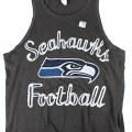 Seattle Seahawks NFL Women's Scoop Neck Crop Tank
