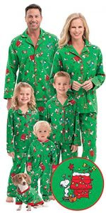 Brushed Cotton Flannel Charlie Brown Matching Christmas Pajamas