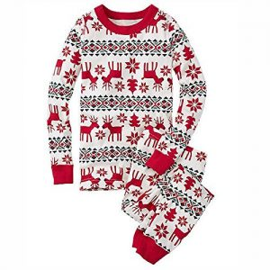 Q&Y Family Matching Christmas Pajamas Set