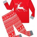 Boys Girls Christmas Pajamas Reindeer