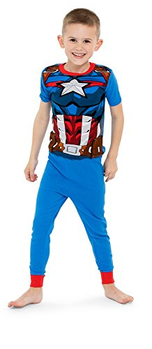 Marvel Little Boys' Big Avengers 4-Piece Cotton Pajama Set